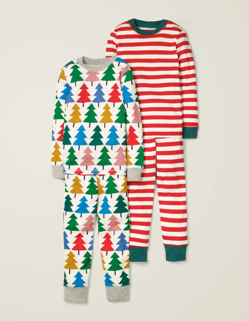 Rainbow Christmas Tree Pajama Set