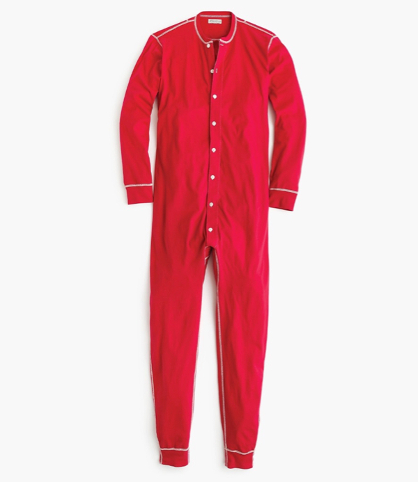 Red Jersey Union Suit Pajamas