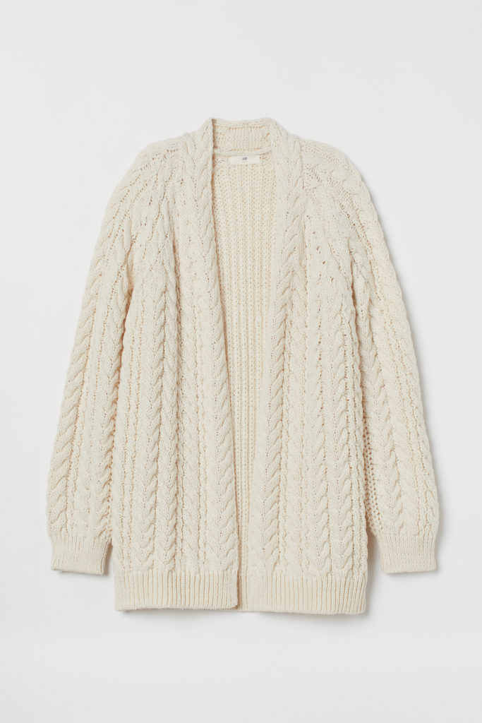 Soft Cable Knit Cardigan