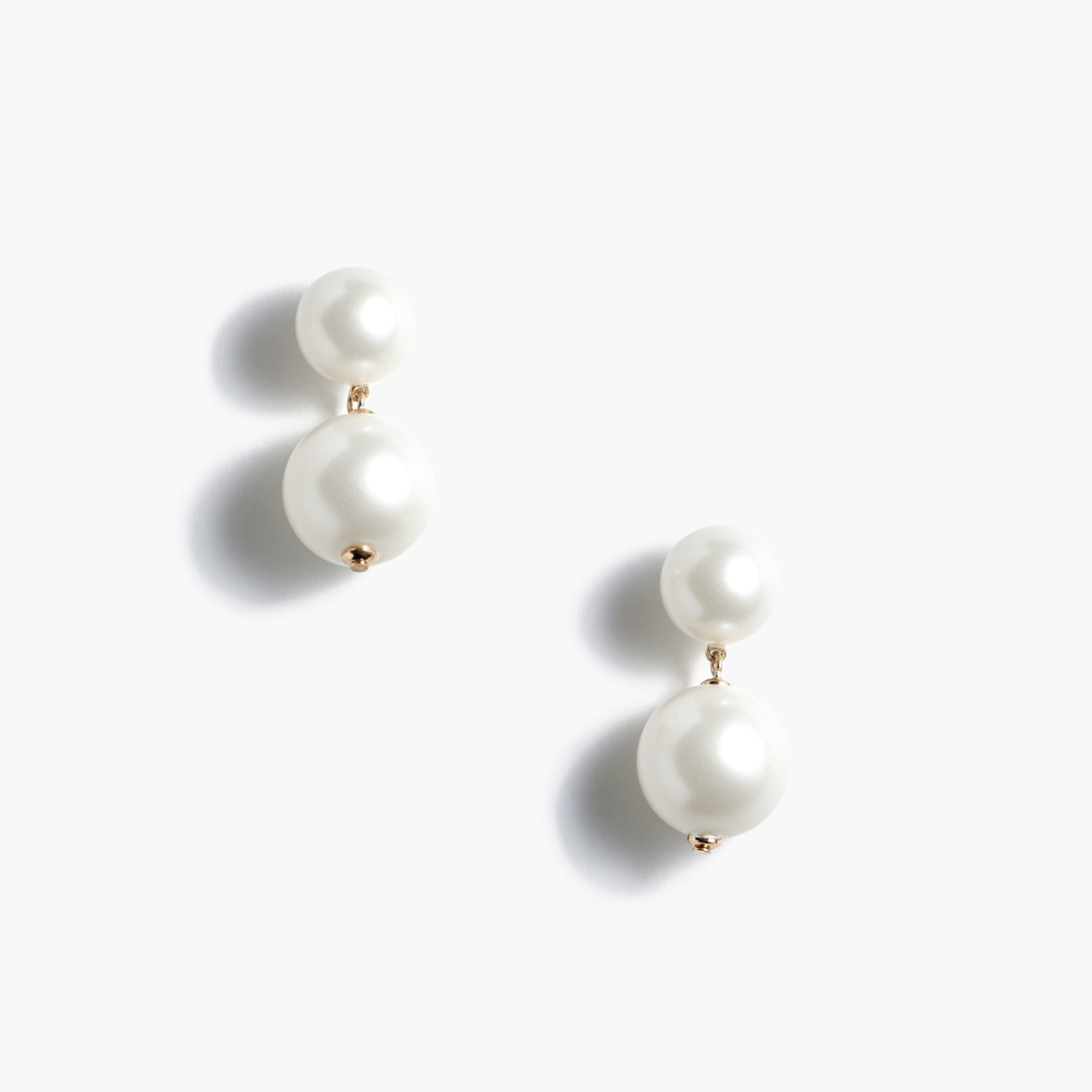 Two Pearl Drop Earrings