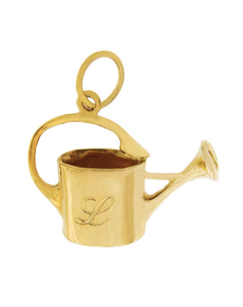 14k Gold Watering Can Charm for Bracelet