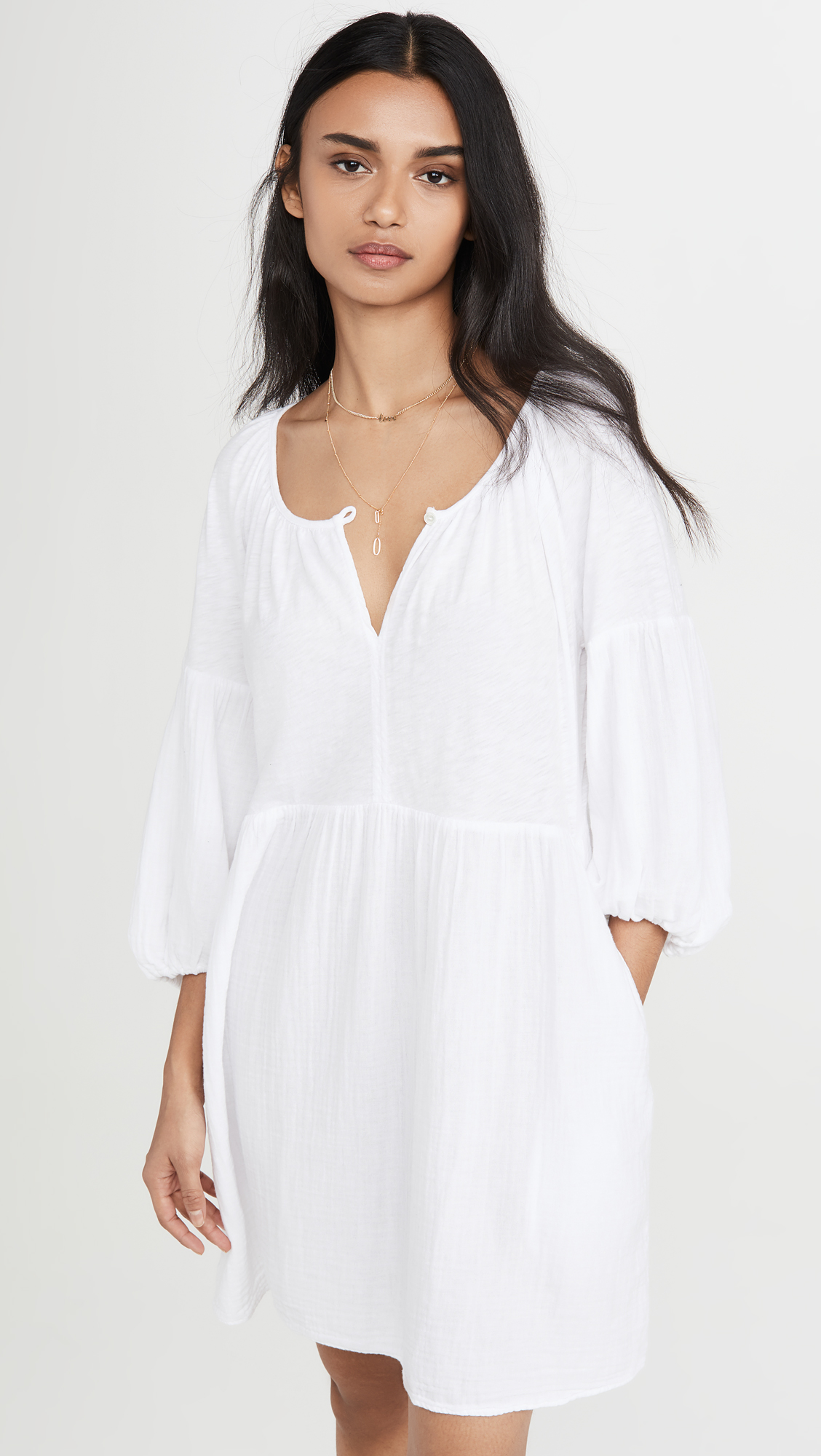 White Loose Fit Dress