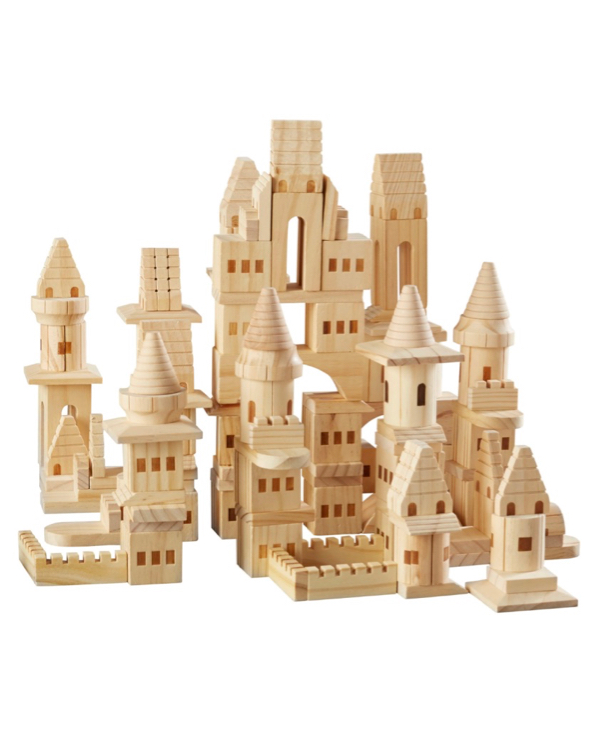 Wood Castle Building Block Set