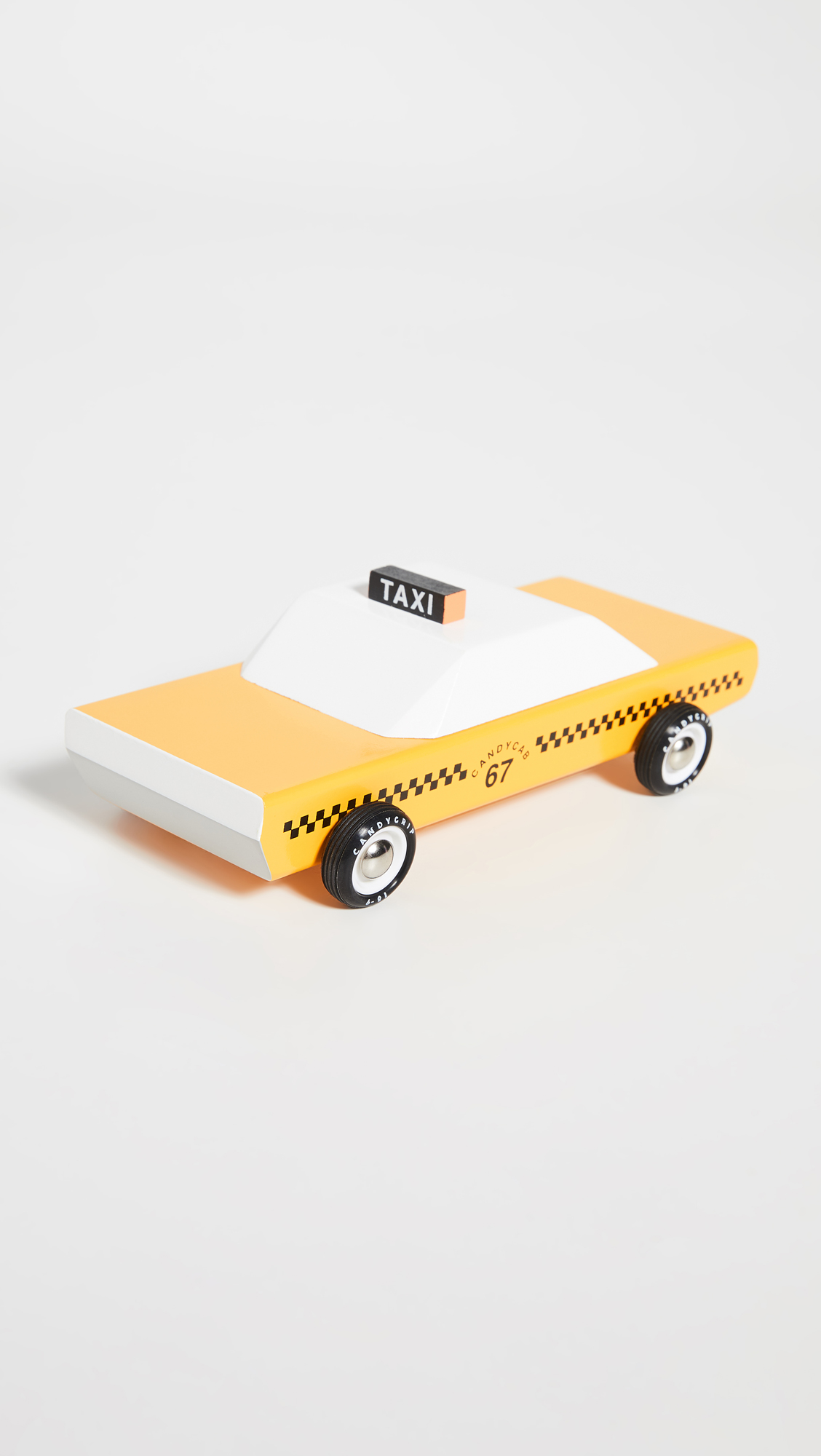 Wooden Taxi Cab Toy Car