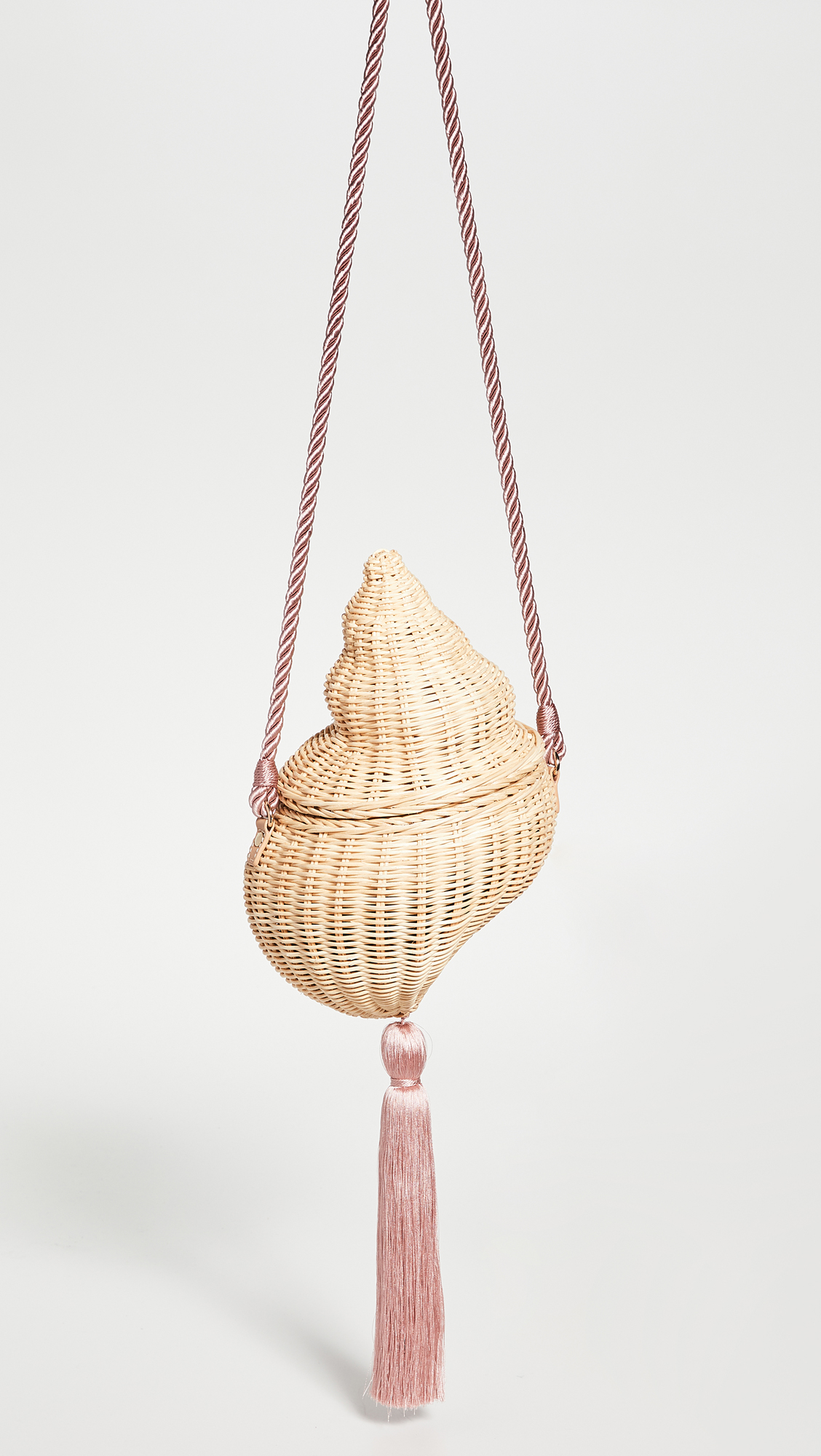 Woven Straw Conch Shell Bag