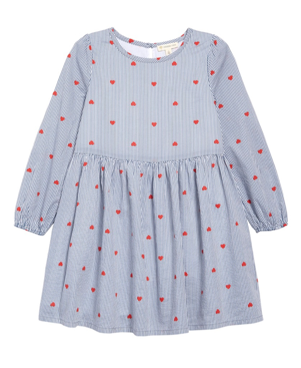 Heart Stripe Dress Toddler Girls