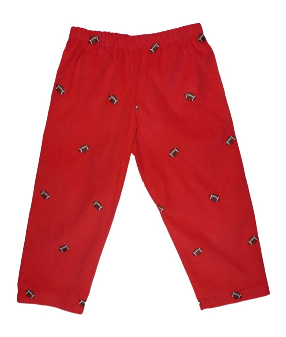 Boys' Corduroy Pants with Embroidered Footballs
