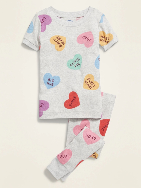 Candy Hearts Pajama Set Girls Toddler Baby