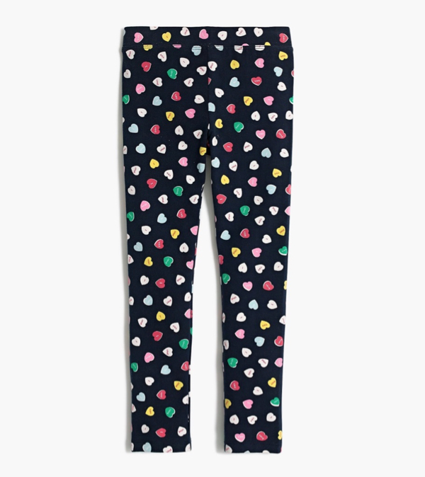 Girls' Conversation Heart Leggings