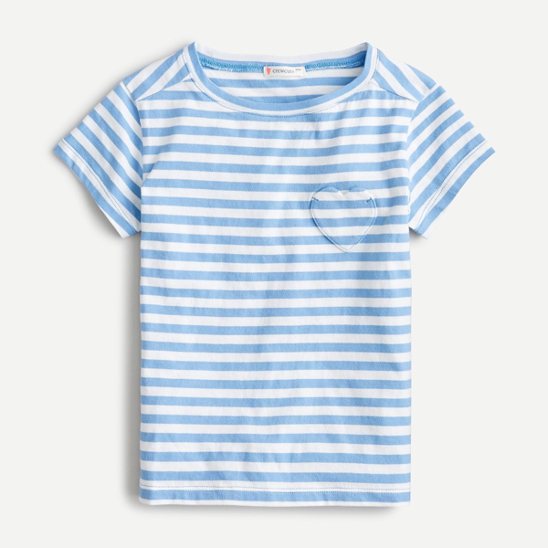 Heart Pocket T-Shirt Stripe