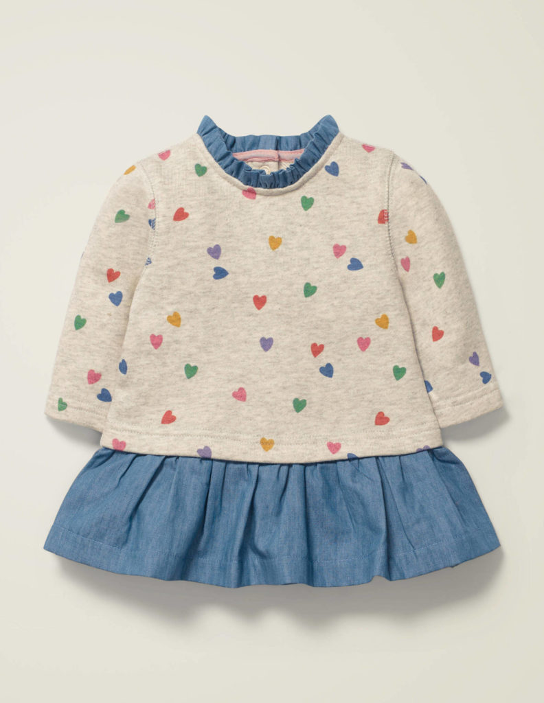 Multi Heart Sweatshirt Dress Baby Valentine's Day