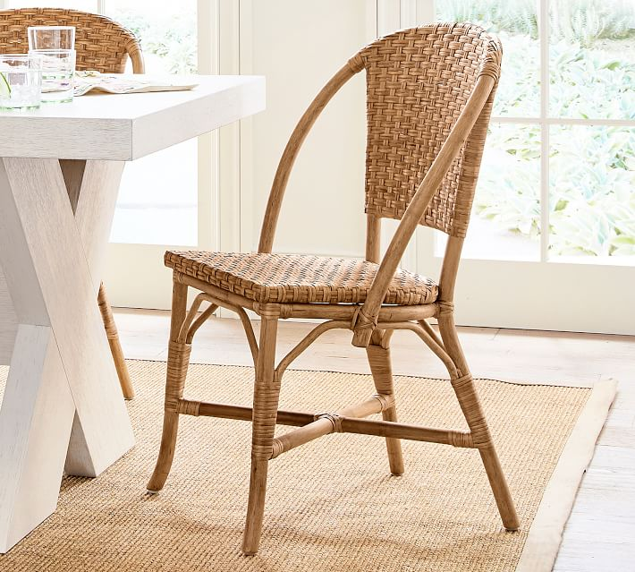 Parisian Woven Dining Chair Rattan Cafe Bistro