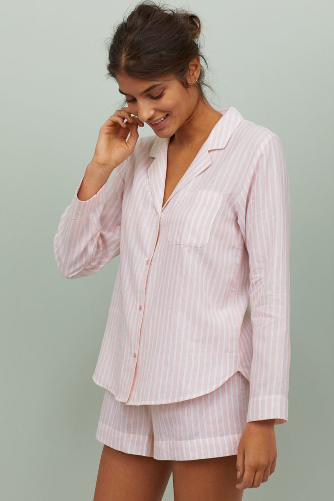 Pink Stripe Cotton Flannel Pajamas