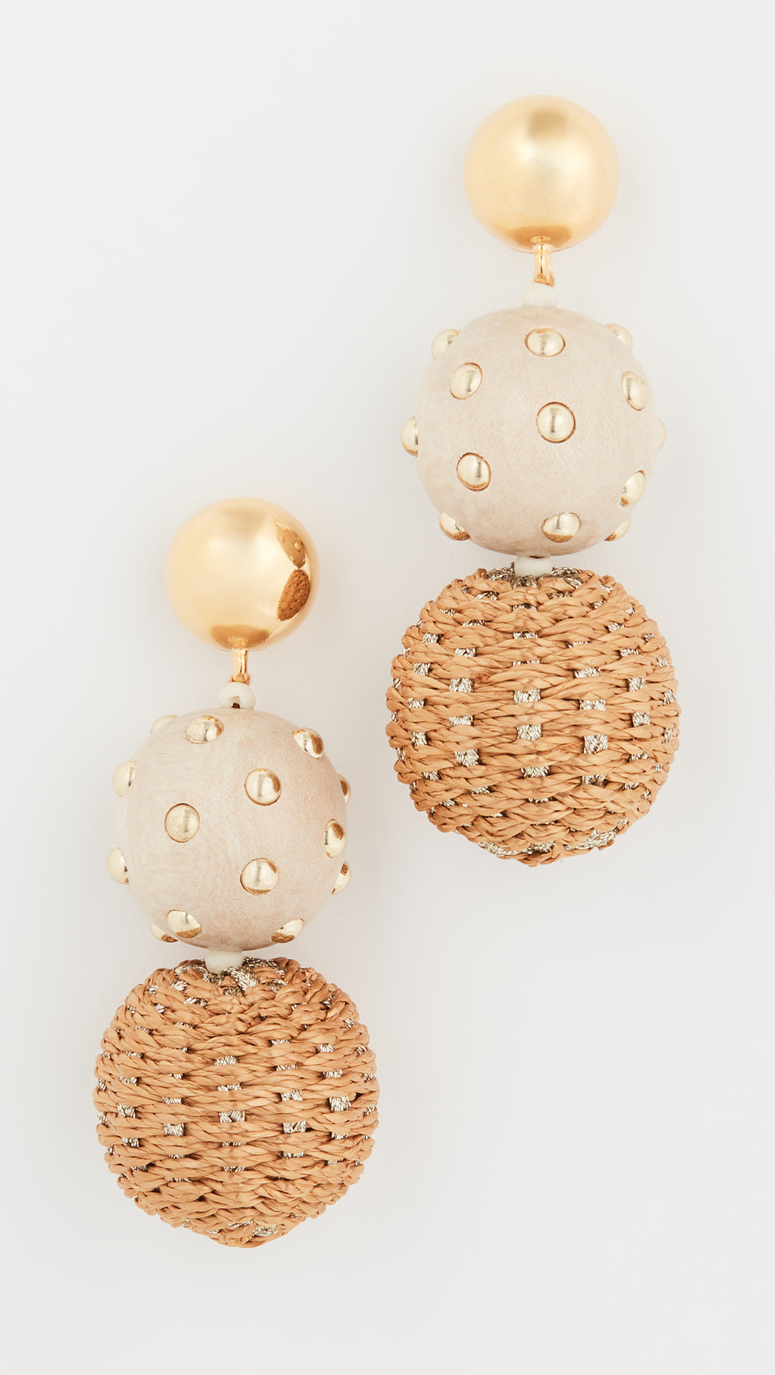 Raffia and Wood Earrings