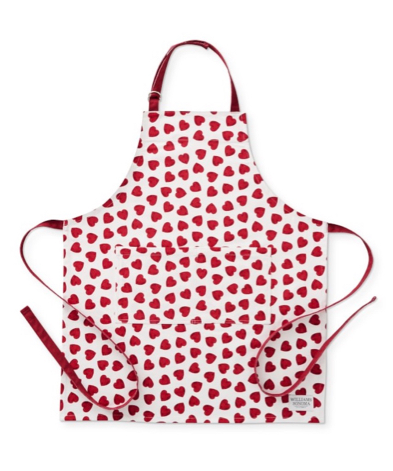 Red Heart Print Apron Williams-Sonoma