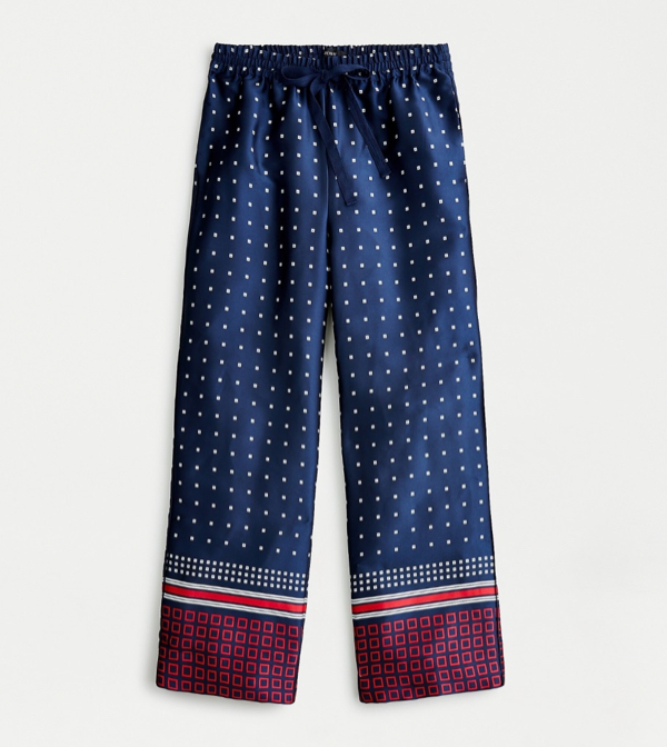 Relaxed Pant in Geometric Twill