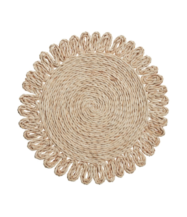 Round Natural Corn Husk Placemats