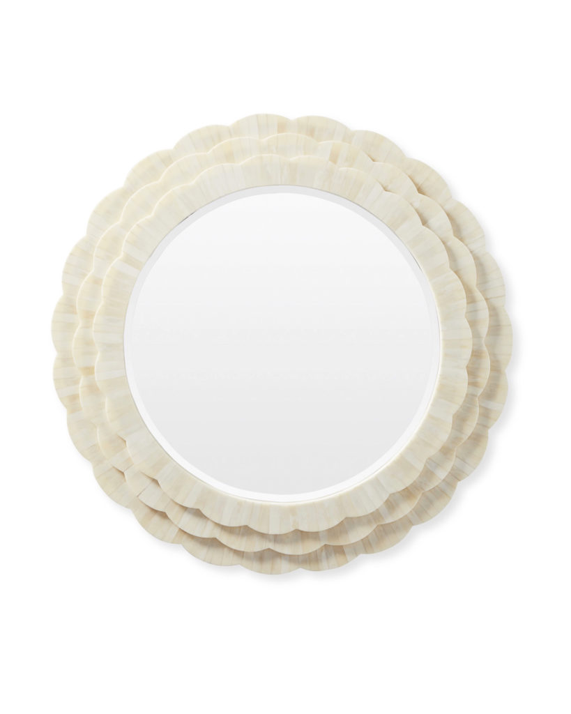 Scalloped Bone Inlay Wall Mirror Darbrook by Serena and Lily