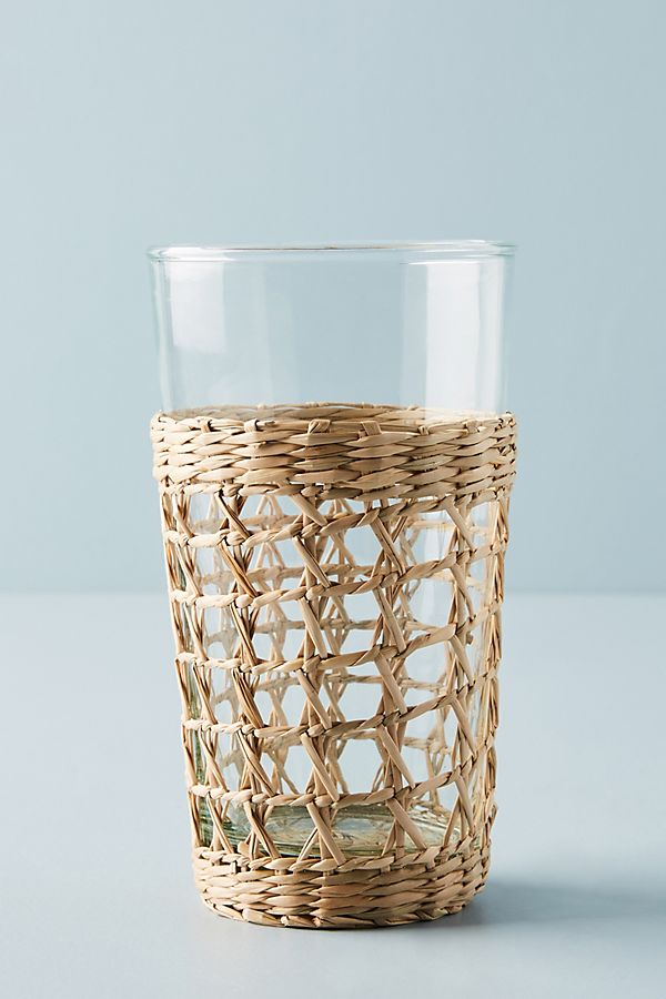 Seagrass-Wrapped Highball Glasses
