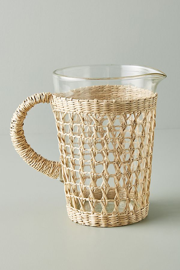 Seagrass-Wrapped Pitcher