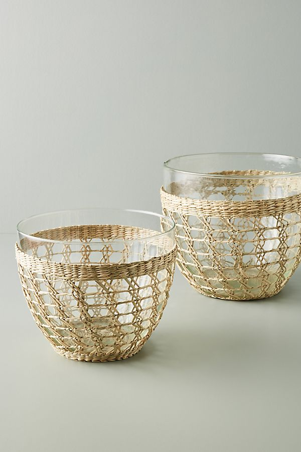 Seagrass Wrapped Serving Bowls