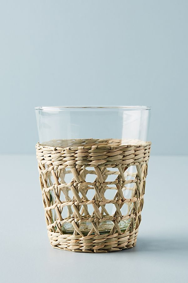 Seagrass Wrapped Glasses Tumblers