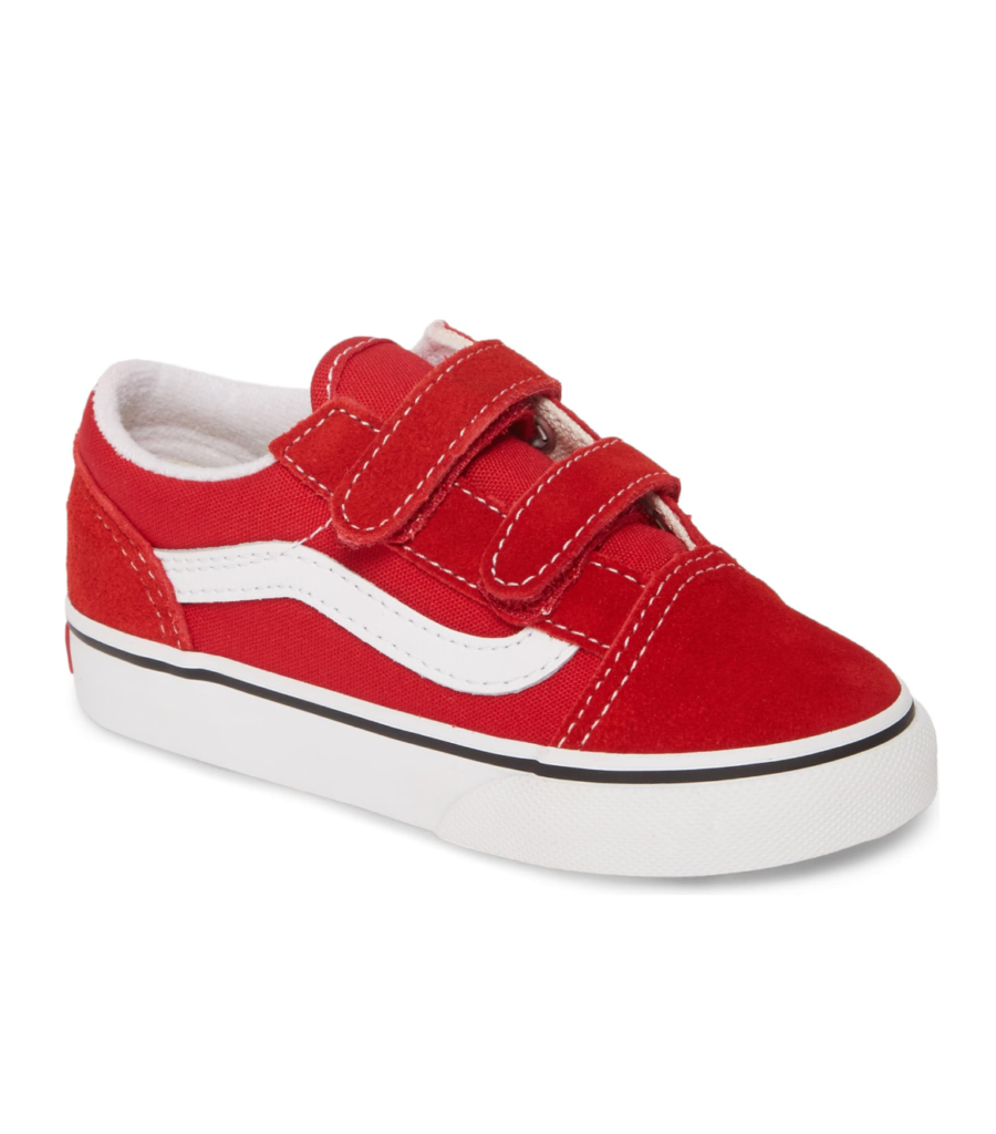 Vans Red Old Skool Children's Sneaker