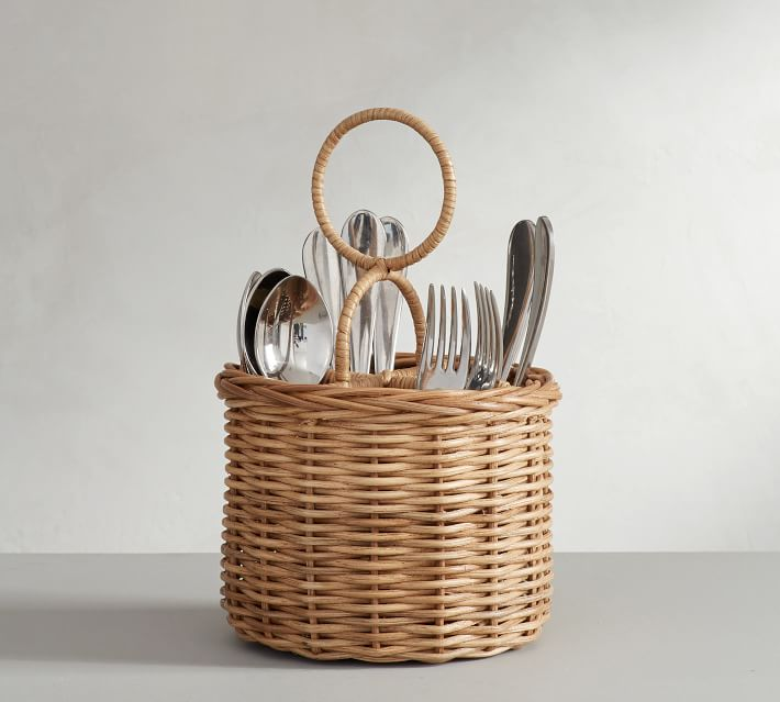 Willow Woven Flatware Caddy