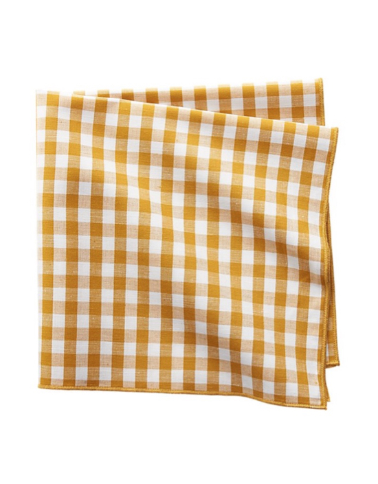 Yellow Gingham Napkin Check