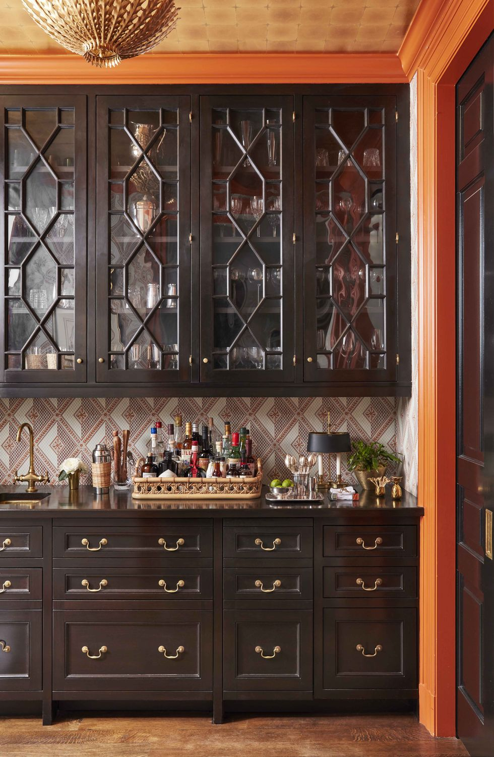 Built-in Bar of Caroline Gidiere's Birmingham Alabama home