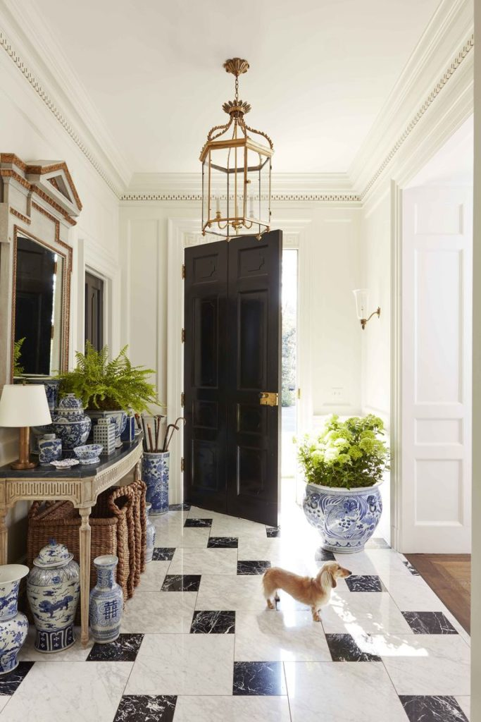 Foyer of Caroline Gidiere's Birmingham Alabama home