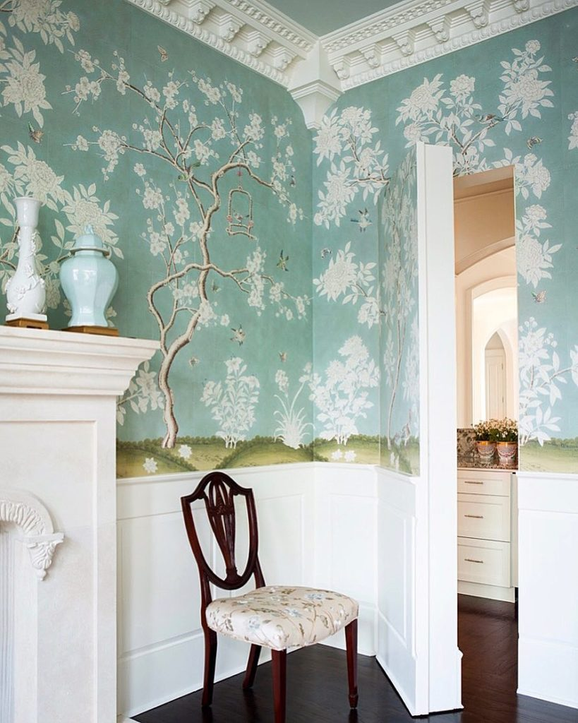 Gracie Studio Chinoiserie wallpaper dining room Mallory Mathison