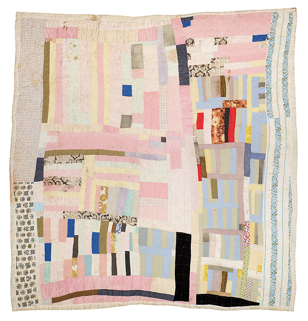 Hand-stitched quilt from Gee's Bend, Alabama.