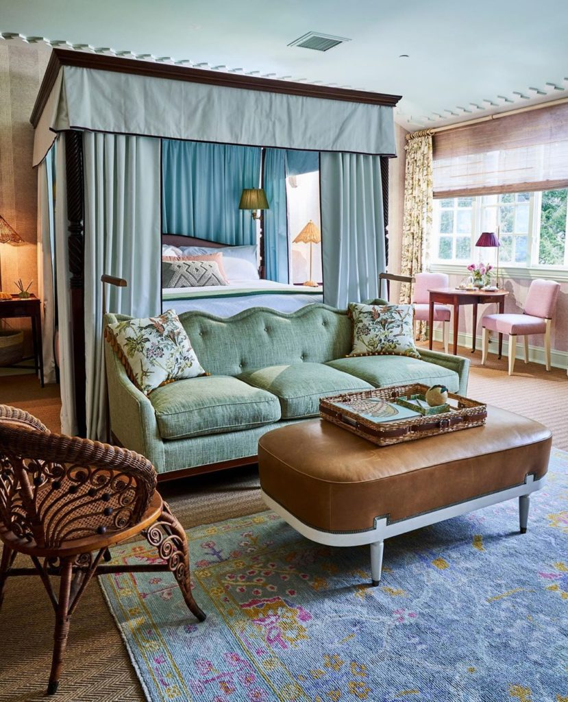 Mayflower Inn and Spa in Washington, Connecticut decorated by Celerie Kemble Interiors