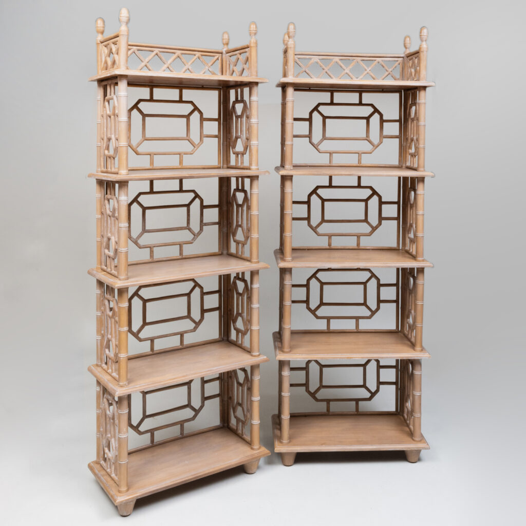 Chinese Chippendale etagere from the John Rosselli auction at Stair Galleries
