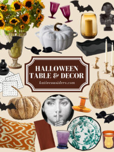 Halloween Decorations and Table Settings